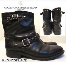 GOLDEN GOOSE Biker Boots UK8 EU41 *GREAT CONDITION* Black Leather *DELUXE*