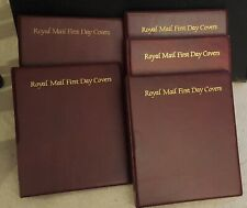 5 Superb Condition Royal Mail First Day Cover Albums with 70 pocketed pages