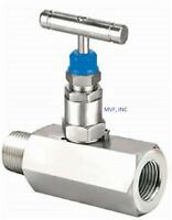 "Needle Valve 1/2"" Male NPT x 1/2"" Female NPT 6000 PSI Stainless NACE     556IN05"