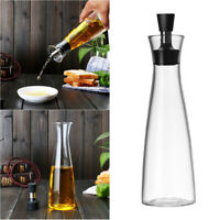 1pc Borosilicate Glass Oil Bottle Oil Can Leakage-proof Sauce Container 500ml