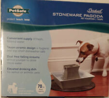 Stoneware Pagoda Pet Fountain Drinkwell - Water dish/Waterer - Pet Safe