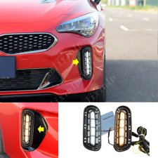 For 2018-2020 KIA Stinger LED DRL Daytime Running Lights / Turn Signals 2pcs
