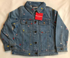 NWT Hanna Andersson Girl's Denim Jean Jacket  Sz 120 (6-7) Embroidered Cute! $72