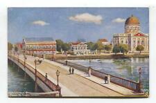 Pernambuco, Brazil - Ponte de Santa Izabel - old Tuck shipping line postcard