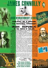 James Connolly Easter 1916 Irish Proclamation A4 Poster in Irish/English