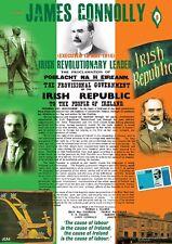 James Connolly Pasqua 1916 PROCLAMAZIONE Irlandese A4 poster in inglese/irlandese