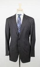 New D'AVENZA Gray Striped Wool 2 Button Sport Coat Blazer Size 52/42 R $2995