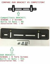 Front Bumper License Plate Bracket For Jeep + 6 Secure Screws & Wrench Kit New
