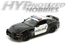 MOTORMAX 1:24 N/B 2018 FORD MUSTANG GT POLICE DIE-CAST BLACK/WHITE 76968