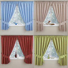 Spotted Tape Top Modern Curtains & Pelmets