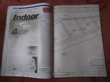 RC Model World Plans of Indoor Ace & Batty with original magazine July 2000
