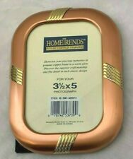 """Home Trends 4 3/4 X 6 1/4"""" Rounded Corner Copper Frame Holds 3 1/2 X 5"""" Photo"""