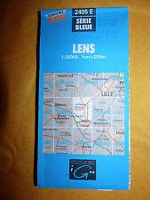 Carte IGN bleue 2405 E lens  1991