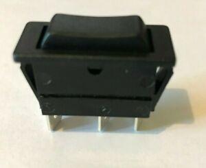 Rocker Switch, (On)-Off-(On), SPDT, Non Illuminated, Panel Mount, Black, 30mm