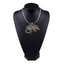 inch platinum chain necklace jewelry codeUs119 Opossum Pewter Emblem on a 18