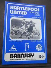 Hartlepool V Barnsley 1977/8