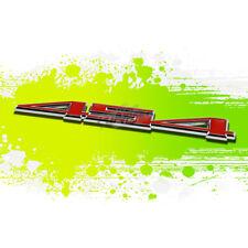 """SILVER """"454"""" RED LETTER CID LOGO TRIM BADGE METAL EMBLEM DECAL EXTERIOR STICKER"""
