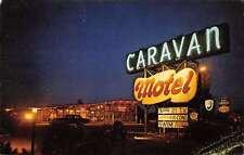 Maple Shade New Jersey night scene outside Caravan Motel vintage pc Y11315