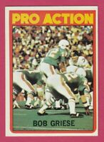 1972 Topps # 132 Bob Griese - Dolphins - Box 734-183