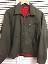 Vintage 1950's Tuf-Nut Sanforized Cotton Work Jacket Made In USA Men's Medium