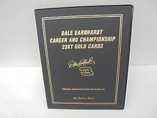 Dale Earnhardt Career and Championships 23kt Gold Cards 01 Danbury Mint Art Work