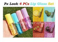 4 PCs Px Look Fruit Scented Lip Gloss - Lemon, Mint, Strawberry, Grape