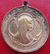 "1878 Antique""Souvenir Congregation VAUGIRARD 3 DIVISION""Bronze Blessed Medal"