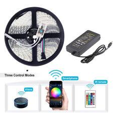 5M Flexible LED Strip 5050 rgb 4in1 RGBW RGBWW Tape Light + wifi + Power 12V 24V