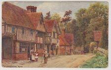 Kent postcard - Chiddingstone - ARQ No. 1278 - Gravure Oil Texture