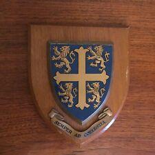 Old St Cuthberts College Crest Plaque Heraldic University School