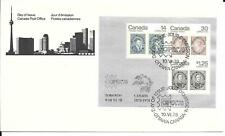 New listing Canada #756a Souvenir sheet of 3 - Capex '78 - Fdc, 65 pieces, buy less is ok