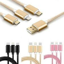 Fast USB Charging Cable  3 in 1 Universal Multi Charger Type C+iPHONE+Android
