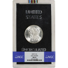 1879-S US Morgan Silver Dollar $1 - GSA Holder - Uncirculated - NGC MS63
