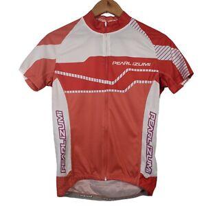 Pearl Izumi Orange & White Short Sleeve Full Zip Cycling Jersey - Size Medium