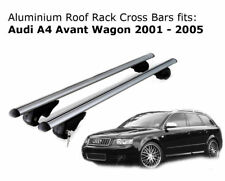 Aluminium Roof Rack Cross Bars  fits Audi A4 Avant Wagon 2001-2005