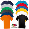 Fruit Of The Loom MEN'S V-NECK T-SHIRT SUMMER PLAIN TEE COTTON GYM SIZES OFFER