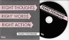 FRANZ FERDINAND Right Thoughts Right Words Right Action UK 10-track promo CD