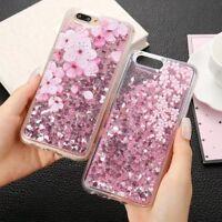 Liquid Glitter Water Sparkly Stars Flower Bling Soft Rubber Case Cover For Oppo