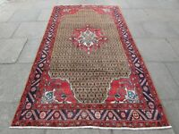 Old Hand Made Traditional Persian Rug Oriental Rug Wool Brown Rug 281x156cm