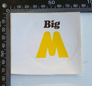 VINTAGE BIG M BANANA FLAVOUR MILK AUSTRALIA SOUVENIR ADVERTISING PROMO STICKER