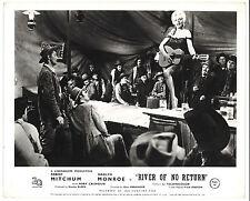 * RIVER OF NO RETURN (1954) Robert Mitchum Enjoys Marilyn Monroe Playing Guitar