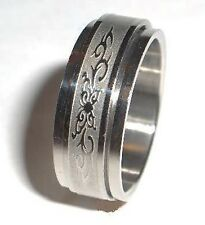 Butterfly Spinner Ring Stainless Steel Size 7