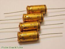 4pcs ROE EB 220uF 63V 105°C LL Axial Hi-Fi Audio Gold Capacitors.NOS.