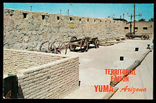 vintage old cell blocks & museum at Territorial Prison Yuma Arizona postcard