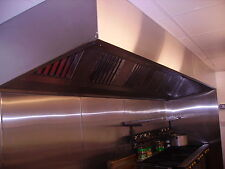 commercial kitchen extraction canopy  5000 X 1200