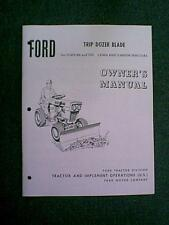 FORD 80 100 TRACTOR DOZER SNOW BLADE OWNERS MANUAL 9470