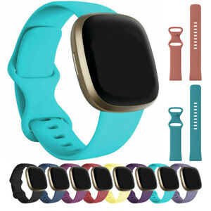 For Fitbit Versa 3 / Sense Strap Silicone Buckle Replacement Sport Watch Band