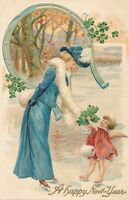 NEW YEAR – Art Nouveau Woman and Angel