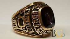 Vintage One of A Kind! Men's 10K Yellow Gold RCA Solid State Color TV Sales Ring
