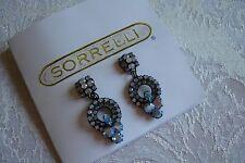 Sorrelli Swarovski Crystal Dangle Drop Blue Earrings Art Deco Style Retired